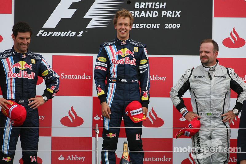 2009 - 1. Sebastian Vettel, 2. Mark Webber, 3. Rubens Barrichello