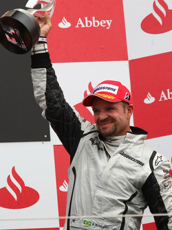 Podium: le troisième Rubens Barrichello, Brawn GP