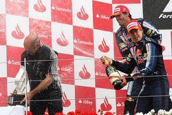 Podio: Adrian Newey, Red Bull Racing y Red Bull Racing, Director de operaciones técnicas con Sebasti