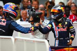 Ganador de la carrera Sebastian Vettel, Red Bull Racing, segundo puesto de Mark Webber, Red Bull Rac