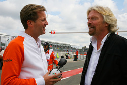Michael Mol, Force India F1 Team ve Sir Richard Branson, Yönetim Kurulu Başkanı, Virgin Group
