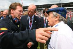 Christian Horner, Red Bull Racing, Director deportivo y Sir Jackie Stewart, Representitive RBS y Ex