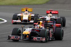 Sebastian Vettel, Red Bull Racing devance Lewis Hamilton, McLaren Mercedes et Fernando Alonso, Renault F1 Team