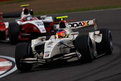 Romain Grosjean leads Nico Hulkenberg