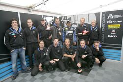 Karun Chandhok and his team celebrate their first podium