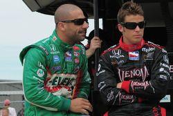 Tony Kanaan, Andretti Green Racing et Marco Andretti