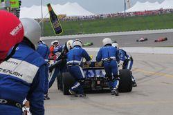 Mike Conway, Dreyer & Reinbold Racing fait un arrêt essence