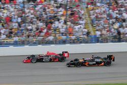 Justin Wilson, Dale Coyne Racing et Danica Patrick, Andretti Green Racing