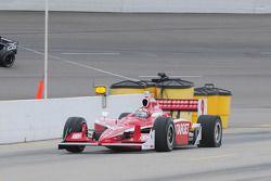 Scott Dixon, Target Chip Ganassi Racing avec un pneu plat.