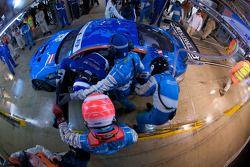 Pit stop for #66 Jetalliance Racing Aston Martin DBR9: Alex Müller, Lukas Lichtner-Hoyer, Thomas Gru
