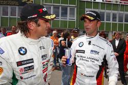Alex Zanardi, BMW Team Italy-Spain and Jorg Muller, BMW Team Germany