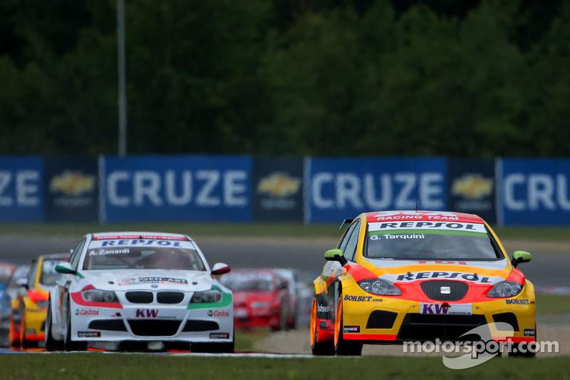 Gabriele Tarquini, Seat Sport, Seat Leon 2.0 TDI y Alex Zanardi, BMW Team Italy-Spain, BMW 320si