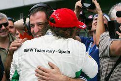 Alex Zanardi, BMW Team Italy-Spain celebra