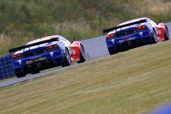 #55 CRS Racing Ferrari 430 GT2: Chris Niarchos, Tim Mullen, #56 CRS Racing Ferrari 430 GT2: Andrew K