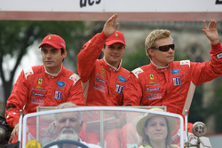 Jaime Melo, Pierre Kaffer and Mika Salo