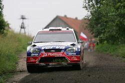 Krzysztof Holowczyc et Lukasz Kurzeja, Ford Focus RS WRC 08, Stobart VK M-Sport