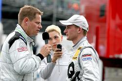 Maro Engel, Mücke Motorsport, AMG Mercedes C-Klasse giving interviews