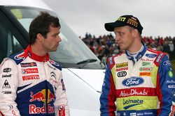 Sébastien Loeb and Mikko Hirvonen