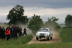 Andreas Mikkelsen et Ola Floene, Skoda Fabia WRC