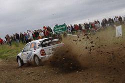 Andreas Mikkelsen and Ola Floene, Skoda Fabia WRC