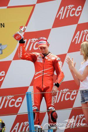 Podio: tercer lugar Casey Stoner, Ducati Marlboro Team