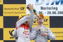 Podium: race winner Jamie Green, Persson Motorsport, AMG Mercedes C-Klasse, third place Mattias Ekst
