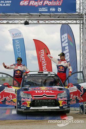 Podium: second place Daniel Sordo and Marc Marti