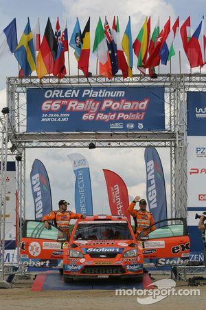 Podium: third place Henning Solberg and Cato Menkerud