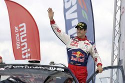 Podium: seconde place de Daniel Sordo