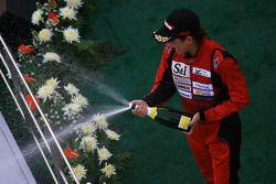Le podium GT300: Hiroki Yoshimoto