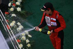 GT300 podium: Hiroki Yoshimoto