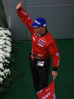 GT500 podium: class and overall winner Ronnie Quintarelli