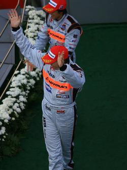 GT500 podium: third place Ralph Firman and Takuya Izawa