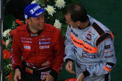 Le podium GT500 : Ronnie Quintarelli et Ralph Firman