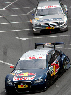 Mattias Ekström, Audi Sport Team Abt Audi A4 DTM and Bruno Spengler, Team HWA AMG Mercedes C-Klasse