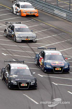Timo Scheider, Audi Sport Team Abt Audi A4 DTM et Mattias Ekström, Audi Sport Team Abt Audi A4 DTM