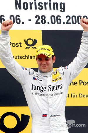 Podium: race winner Jamie Green, Persson Motorsport, AMG Mercedes C-Klasse