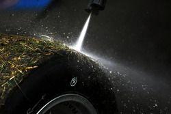 Lavage des pneus