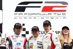 Andy Soucek, Tobias Hegewald et Milos Pavlovic sur le podium