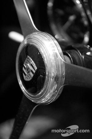 1962 Porsche 718 W-RS Spyder steering wheel detail