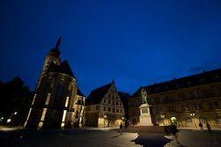 Stuttgart by night: Schillerplatz