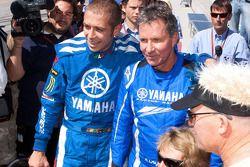 Evento promocional de Go-kart: Valentino Rossi, Fiat Yamaha Team, y Eddie Lawson