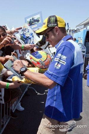 Go-kart promotional event: Valentino Rossi, Fiat Yamaha Team