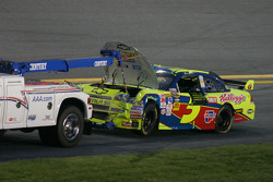 Wrecked car of Mark Martin, Hendrick Motorsports Chevrolet