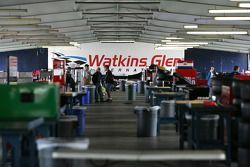 L'aire du garage IndyCar