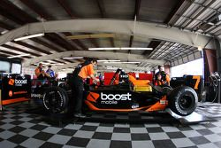 The #7 Andretti Green Racing car of Danica Patrick in the garage