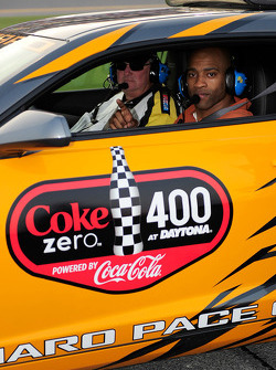 Vince Carter of the NBA's Orlando Magic and native of Daytona Beach serves as honorary pace car driver for the NASCAR Sprint Cup Series Coke Zero 400