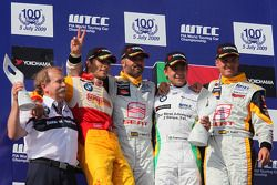 Podium, Friedhelm Nohl, BMW Motorsport, Stefano D'Aste, Wiechers-Sport, Yvan Muller, Seat Sport, Aug