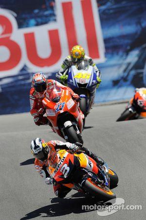 Dani Pedrosa, Repsol Honda Team, Casey Stoner, Ducati Marlboro Team, Valentino Rossi, Fiat Yamaha Te