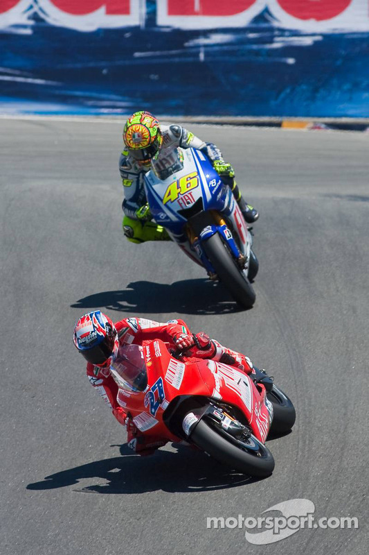 Casey Stoner, Ducati Marlboro Team, Valentino Rossi, Fiat Yamaha Team